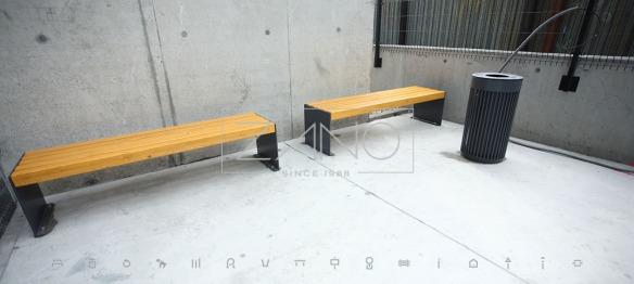 ławka bez oparcia
